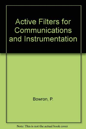 9780070840850: Active Filters for Communications and Instrumentation