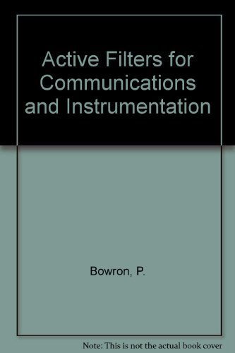 9780070840867: Active Filters for Communications and Instrumentation