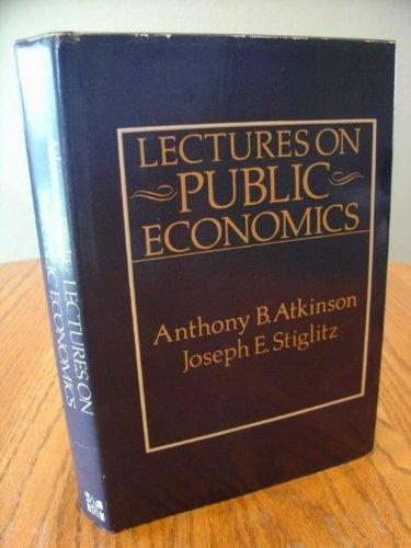 9780070841055: Lectures on Public Economics
