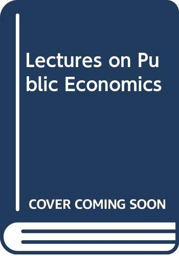 9780070841062: Lectures on Public Economics