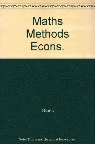 9780070841161: Maths Methods Econs.