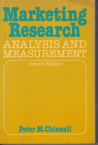 9780070841246: Marketing Research: Analysis and Measurement
