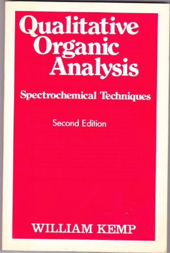 9780070841581: Qualitative Organic Analysis