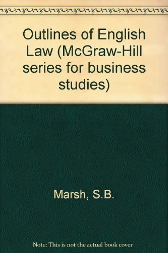 9780070842038: Outlines of English Law (McGraw-Hill series for business studies)