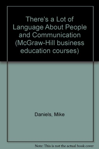 9780070842441: There's a Lot of Language About People and Communication (McGraw-Hill business education courses)