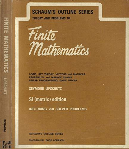 9780070843585: Schaum's Outline of Finite Mathematics