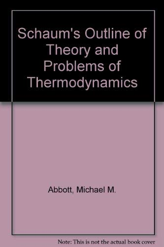 9780070843707: THERMODYNAMICS -SCHAUM O/L -S.I.EDITION (Schaum's Outline)
