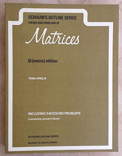 9780070843790: Schaum's Outline of Theory and Problems of Matrices (Schaum's Outline)