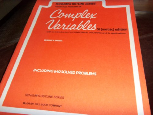 9780070843820: Theory and Problems of Complex Variables