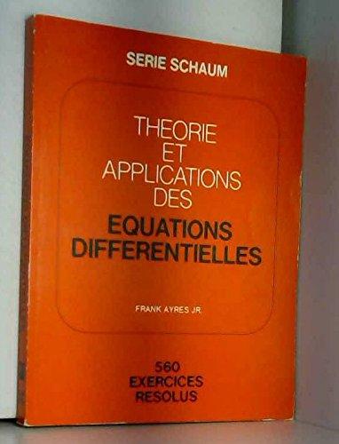 9780070843844: Th�orie et applications des �quations diff�rentielles