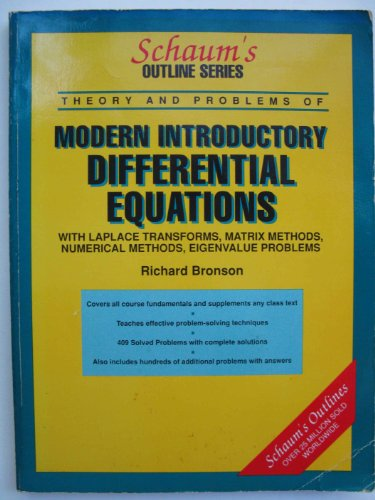 9780070843967: Schaum's Outline of Theory and Problems of Differential Equations