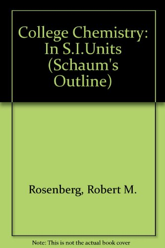 9780070843981: College Chemistry (Schaum's Outline)