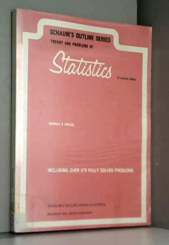 9780070843998: Schaum's Outline of Theory and Problems of Statistics (Schaum's Outline)