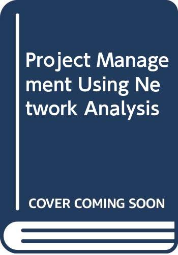 9780070844162: Project Management Using Network Analysis (McGraw-Hill management manuals)