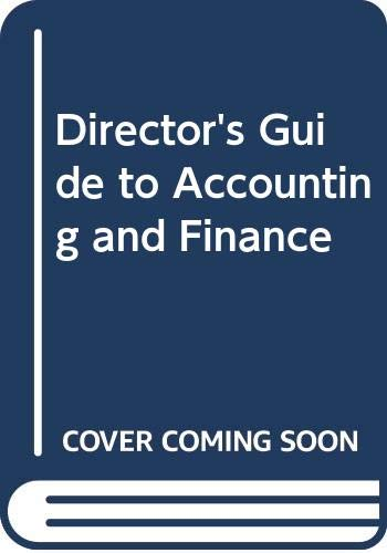 9780070844797: Director's Guide to Accounting and Finance