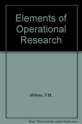 9780070845404: Elements of Operational Research