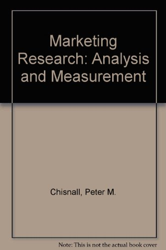 9780070845596: Marketing Research: Analysis and Measurement
