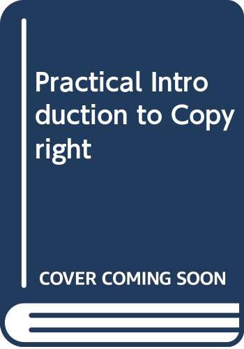 9780070845695: Practical Introduction to Copyright (Business law series)
