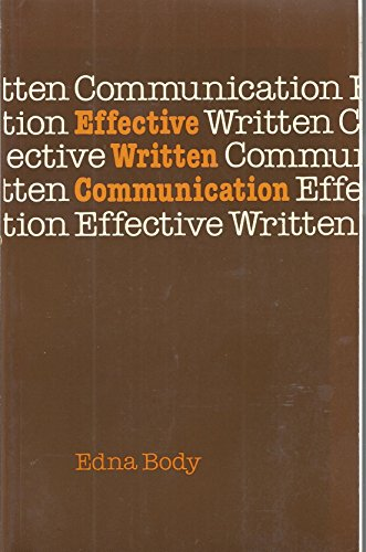 9780070846111: Effective Written Communication