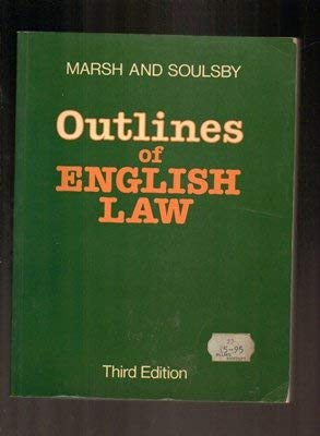 9780070846555: Outlines of English Law