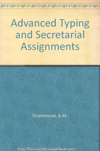 9780070848573: Advanced Typing and Secretarial Assignments