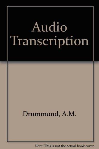 9780070848818: Audio Transcription