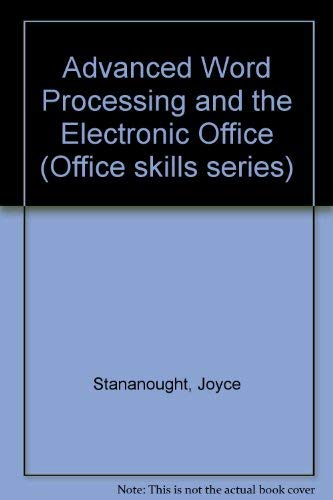 9780070848986: Advanced Word Processing and the Electronic Office