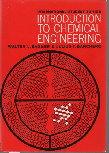9780070850279: Introduction to Chemical Engineering