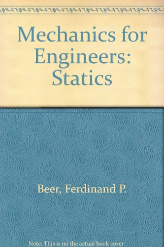 9780070850309: Mechanics for Engineers Statics