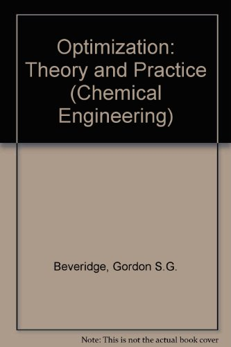 9780070850552: Optimization: Theory and Practice (Chemical Engineering)
