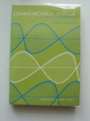 9780070850828: Communication Systems: Introduction to Signals and Noise in Electrical Communication
