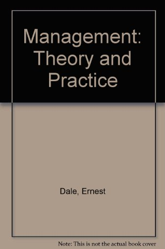 9780070851061: Management: Theory and Practice (Management)