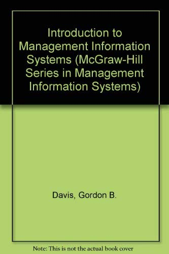 9780070851436: Introduction to Management Information Systems (McGraw-Hill Series in Management Information Systems)