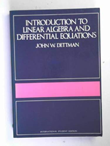 9780070851597: Introduction to Linear Algebra and Differential Equations