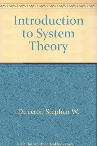 9780070851894: Introduction to System Theory