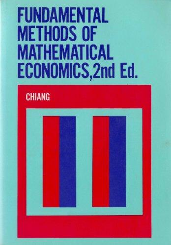 9780070851924: Fundamental Methods of Mathematical Economics
