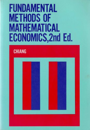 9780070851924: Fundamental Methods of Mathematical Economics by Chiang, Alpha C.