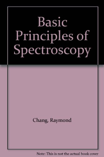 9780070851979: Basic Principles of Spectroscopy