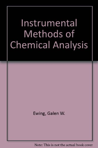 9780070852105: Instrumental Methods of Chemical Analysis