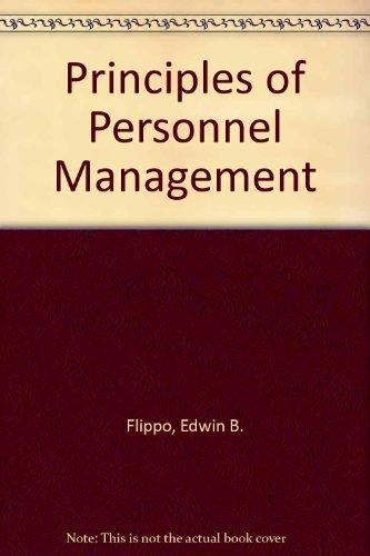 9780070852266: Principles of Personnel Management