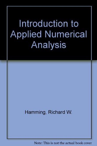9780070852907: Introduction to Applied Numerical Analysis.