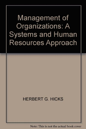 9780070853164: Management of Organizations: A Systems and Human Resources Approach