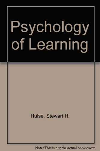 9780070853263: The Psychology of Learning
