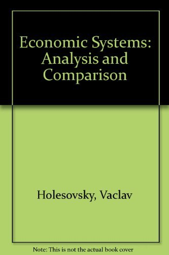 9780070853300: Economic systems analysis and comparison