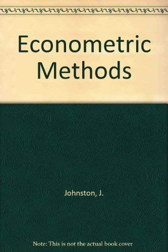 ECONOMETRIC METHODS: J. JOHNSTON