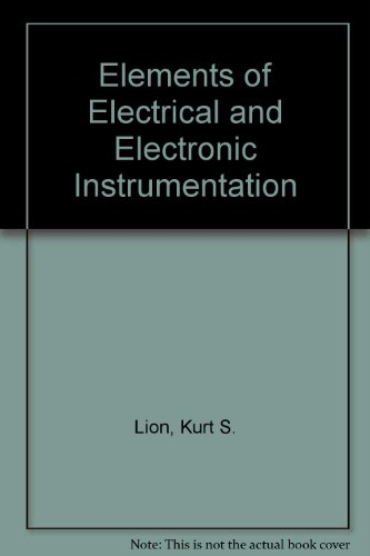 9780070854253: Elements of Electrical and Electronic Instrumentation