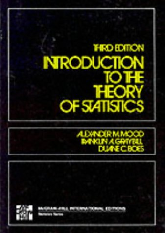 9780070854659: Introduction to the Theory of Statistics, 3rd Edition