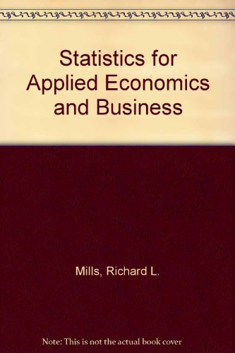 9780070855137: Statistics for Applied Economics and Business