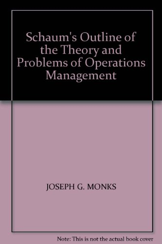 9780070855144: Schaum's Outline of the Theory and Problems of Operations Management