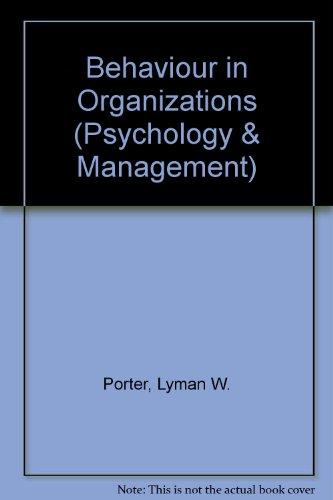 9780070855649: Behaviour in Organizations (Psychology & Management)
